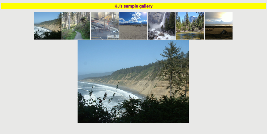 Screenshot of the Angular Gallery software